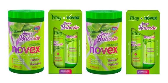 Kit Super Babosão Novex 6 Produtos Creme Tratamento 400 G