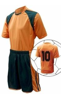 Jogo De Fardamento Esportivo Uniforme Futebol 20 + 2 Peças