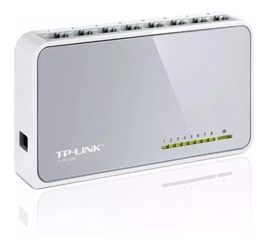 Switch 8 Bocas Tp-link Tl-sf1008d 10/100 Mbps