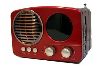 Parlante Cmik Bluetooth Con Radio Fm Vintage