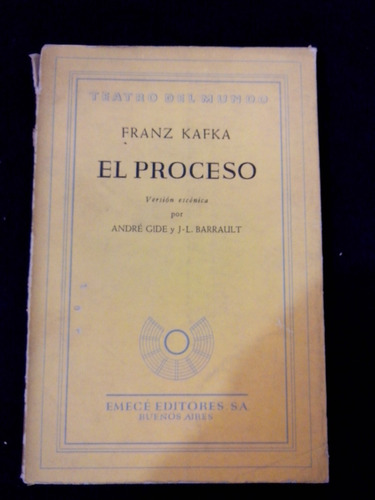 El Proceso Franz Kafka Gide Barrault