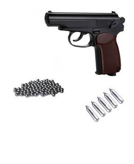Pistola Balin Kwc Makarov Metálica + 6co2 + 500bb Airsoft