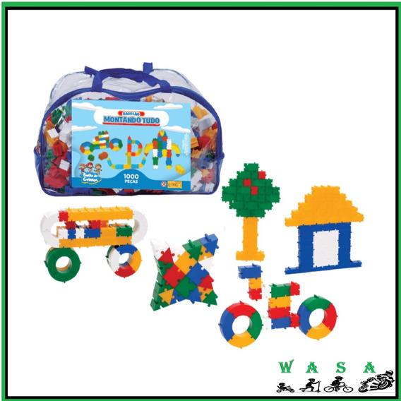 Brinquedo Educativo Peças De Encaixe Montando Tudo 1000 Pcs