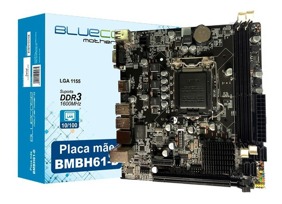 Placa Mae Ddr3 16gb Lga 1155 Vga Hdmi Bmbh61-d Box Bluecase
