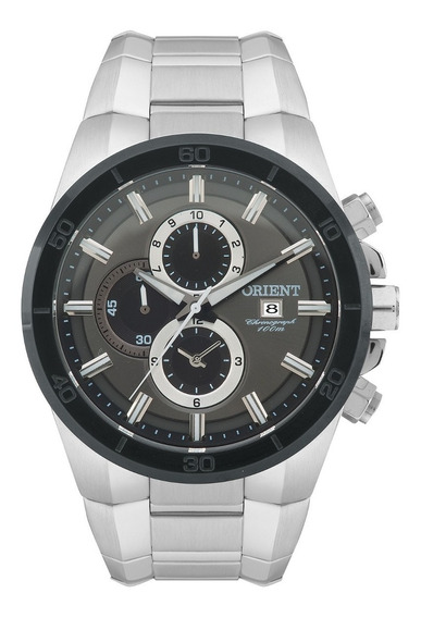 Relógio Orient Masculino Cronógrafo Mbssc114 G1sx Aço Prata