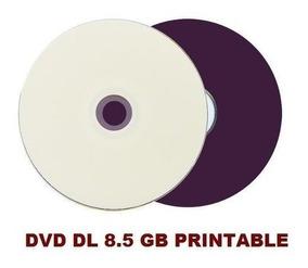 50 Dvd +r Printable Multilaser Dual Layer 8.5gb Umedisc Xgd3