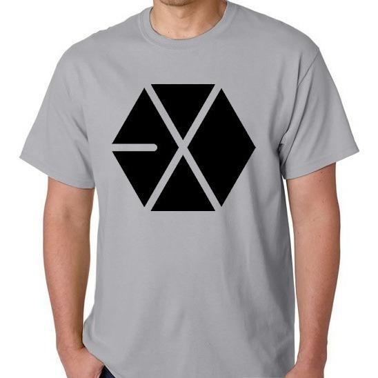 Camiseta Kai Xiumin Exo Unissex Camisa Blusa Banda Coreana