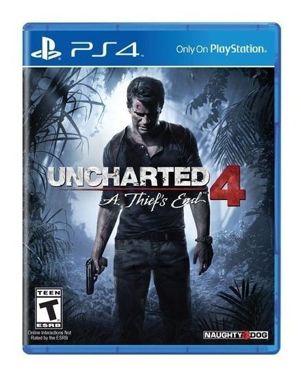 Uncharted 4: A Thiefs End Ps4 Mídia Física Português Lacrado