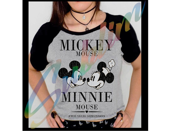 Camiseta Personalizada Mikey E Minnie