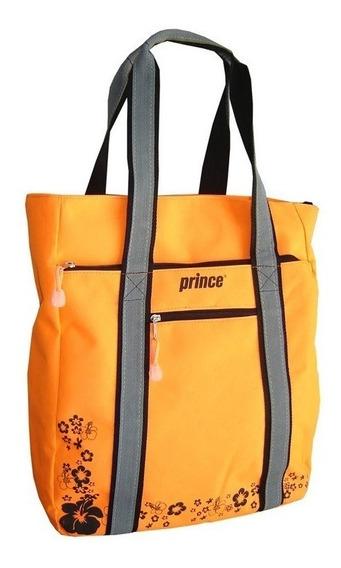 Cartera Prince Dama Tote Naranja Fluo