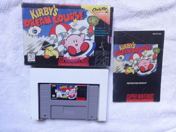 Kirbys Dream Course Original Com Caixa E Manual Nintendo