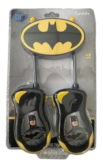 Brinquedo Walkie Talkie Infantil Batman Dc Candide 9650