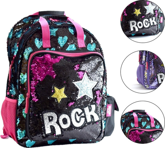Mochila Rock Lentejuelas Escarcha Cuotas 33757