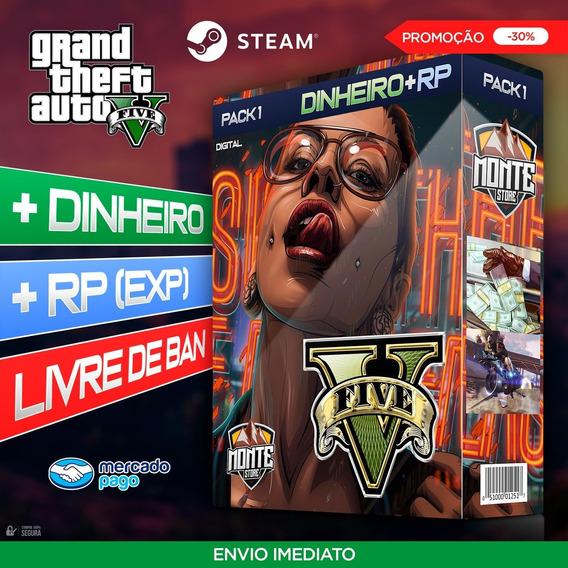 Gta 5 Online Pc Dinheiro E Rp - 300 Milhões