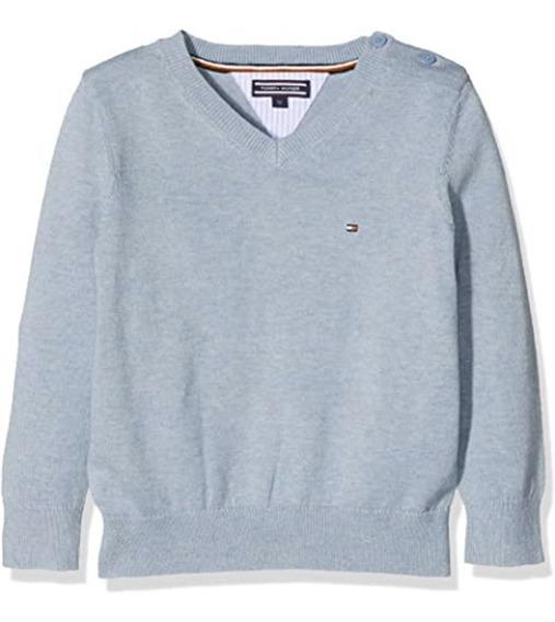 Blusa Frio Sweater Tommy Hilfiger Original Infantil Cinza