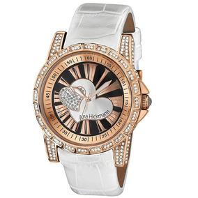 Relógio Ana Hickmann Feminino Ah28366z Branco - Loja Oficial