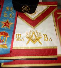 Mandil Masonico Maestro Mason.