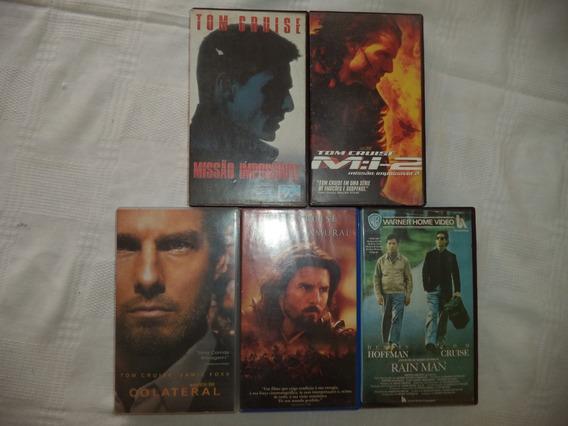 Lote Filmes Vhs Seleção Tom Cruise -com 5 Fitas Cassete