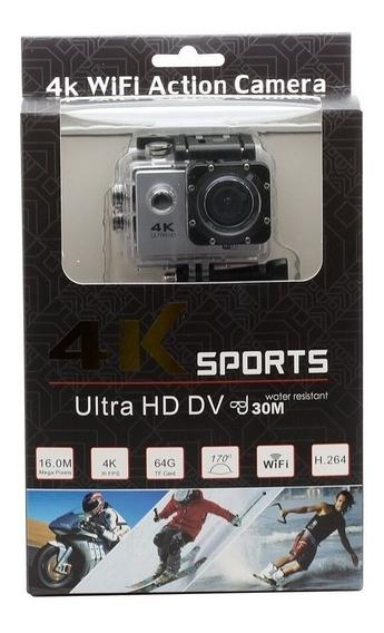 Câmera Sport Ação Filmadora Wifi 4k + Sd Card - Moto - Bike