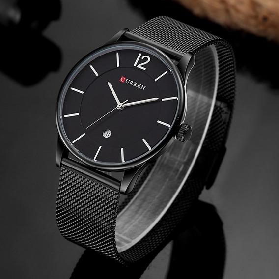 Relógio De Pulso Curren Masculino Vintage Quartzo
