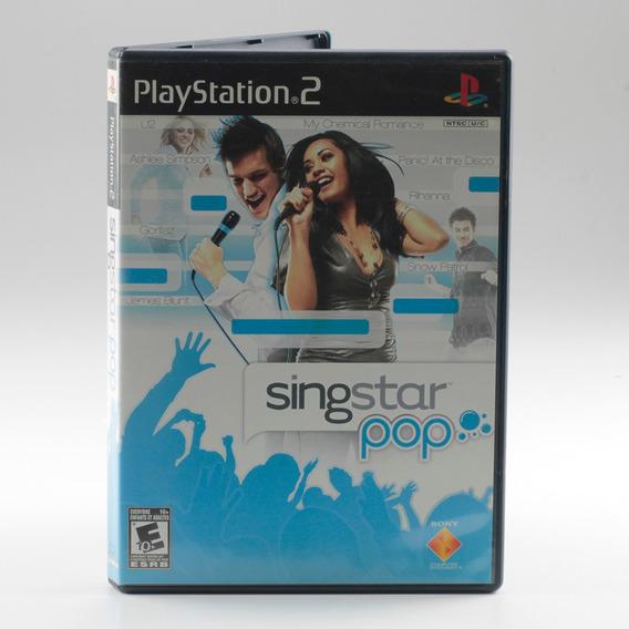 Singstar Pop Ps2 Playstation 2 Original Sing Star