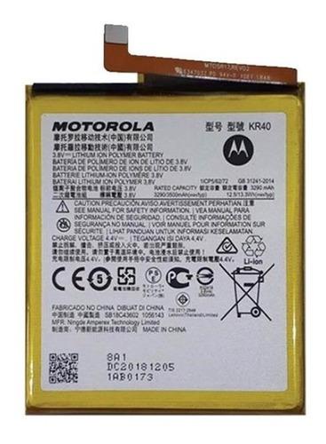Bateria Motorola Moto One Action Kr40 Original Nueva !!
