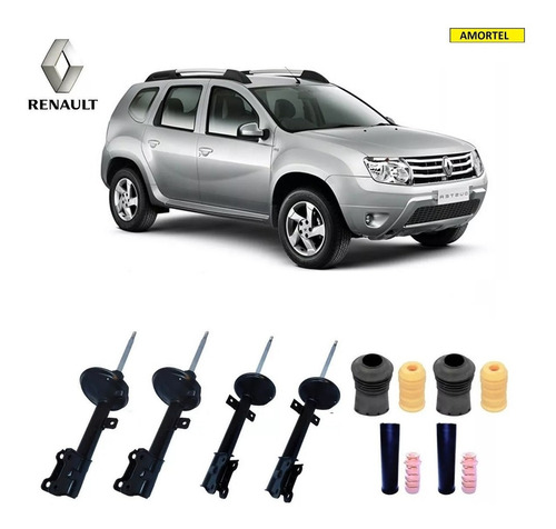 4 Amortecedores + Kit´s Bats. Renault Duster 4x4 Ano 11/18