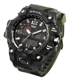 Reloj Tactico Militar Smael 1545 Sumergible Cuotas Sin Int