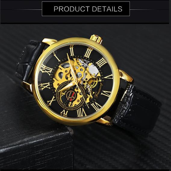 Relógio De Corda Masculino Forsining - Modelo Gmt838