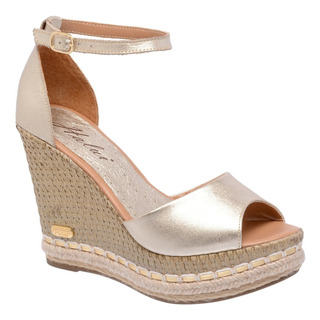 Sandália Anabela Feminina Couro Legítimo Sb Shoes R.3200