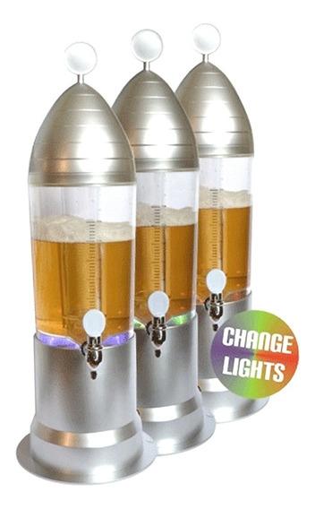 Chopera 3litros Cerveza Chop Con Tubo Enfriador Y Luces