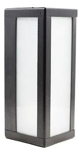 Farol Para Pared Decorativo Exterior Vidrio Blanco E27