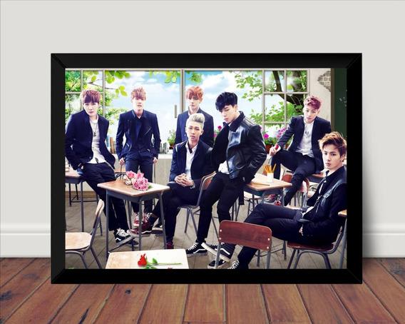 Quadro Bts Kpop Fotografico Poster Com Moldura Boy Band