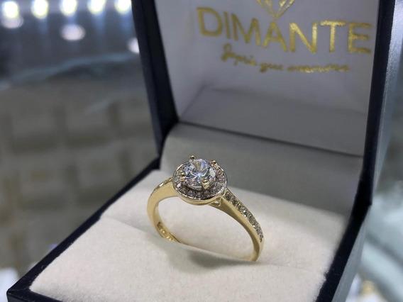 Anillo De Compromiso Oro 10k Diamante Cultivado Envio Gratis