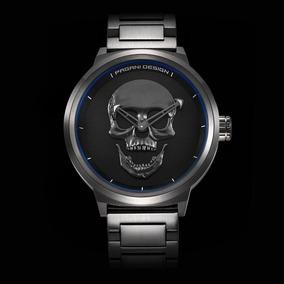 Reloj Pagani Skull 3d Calavera Tactico Black Env.gratis