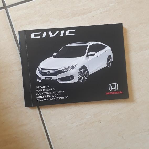 Manual De Revisão E Garantia Honda Civic G10 2017 2018