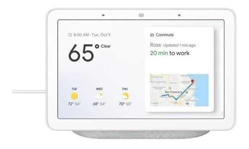 "Imagen 1 de 5 de Google Nest Hub con asistente virtual Google Assistant, pantalla integrada de 7"" chalk 110V/220V"