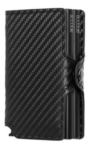 Billetera Walla Wallets Doble - Carbono Black