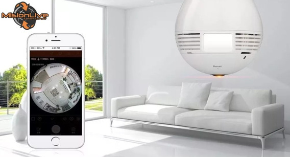 Foco Camara Espia 360° Lampara Led - Wifi - Sonido