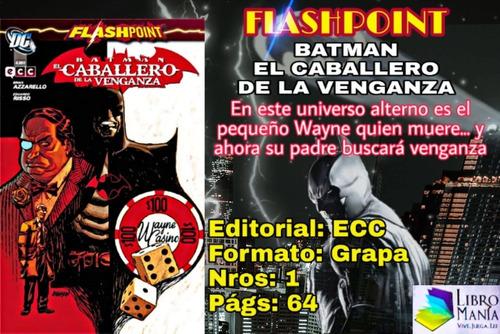 Imagen 1 de 1 de Flashpoint. Batman, El Caballero De La Venganza. Cómic Ecc