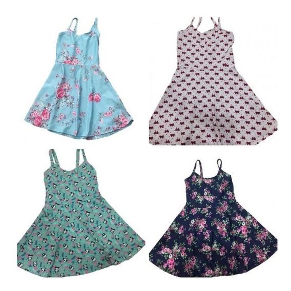 05 Vestido Feminino Infantil Menina Casual Roupas Atacado