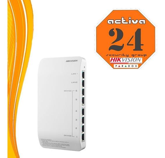 Switch Modulo De Conexión Hikvision Ds-kad606-n 8 Interfaces