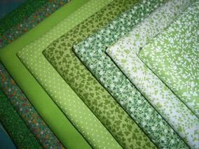 Kit Tecido 100% Algodão Patchwork - 70cmx50cm - Verde H8vd2