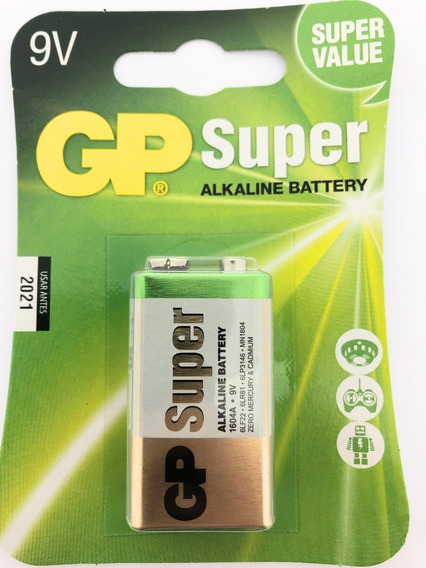 Kit 10 Unidades Bateria 9v Gp Alkaline