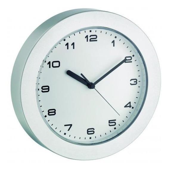 Relógio De Parede Branco Borda Prata Alemão Tfa