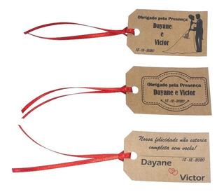 100 Tags Kraft Personalizadas Lembrancinha Casamento Bodas