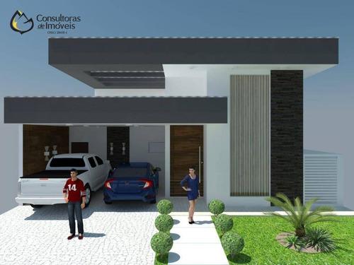 Casa Com 3 Dormitórios À Venda, 168 M² Por R$ 1.060.000,00 - Condomínio Green Ville - Paulínia/sp - Ca1504