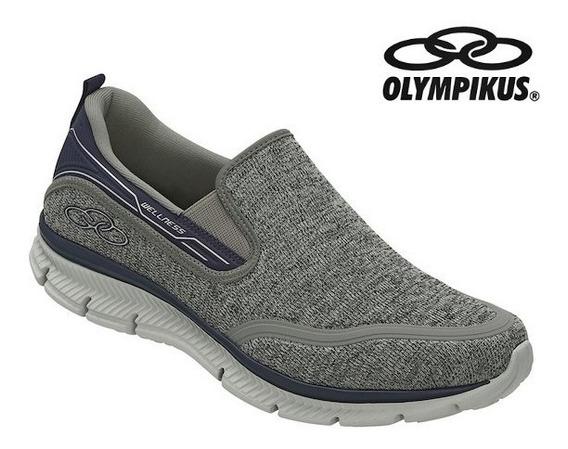 Tênis Olympikus Wellness Masculino Sem Cadarços Caminhada