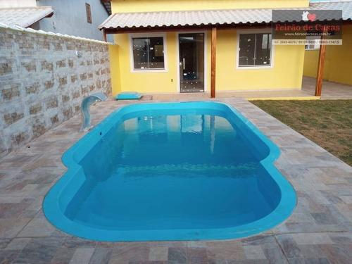 Imagem 1 de 30 de Casa Com 2 Dormitórios À Venda, 90 M² Por R$ 185.000,00 - Unamar - Cabo Frio/rj - Ca0125