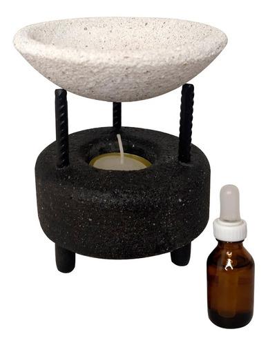 Hornito De Piedra + 1 Esencia Aromatico Decoracion Pequeño